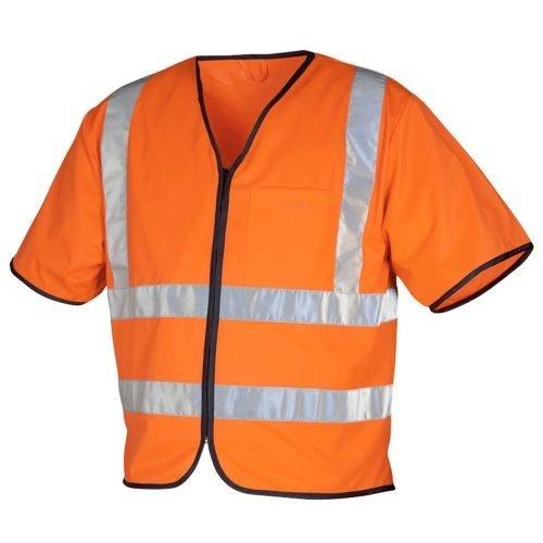 Hi Vis orange safety vest with sleeves