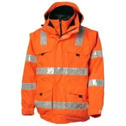 Bomber Jacket 3 in 1 Hi Vis Orange