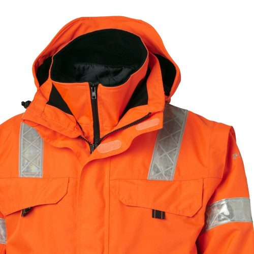 Viking Rubber Hi Vis Orange Safety Jacket Collar