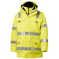 Viking Rubber Safety Hi Vis Yellow Parka Jacket