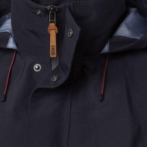 Viking Gore-Tex Navy Blue Jacket Zip Detail