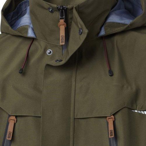 Viking Gore-Tex Green Jacket Zip Detail