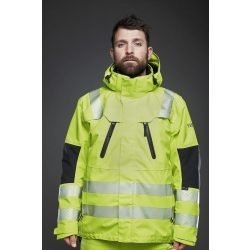 VIKING RUBBER HI VIS YELLOW JACKET WITH ZIPS