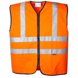 Hi vis orange safety vest