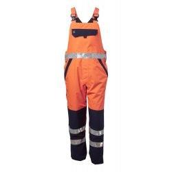 Viking Rubber Hi Vis Orange Winter Trousers Front