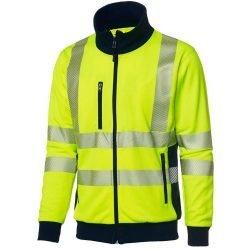 Hi Vis yellow jumper with zip