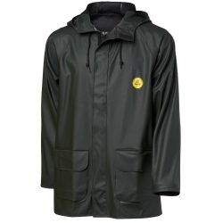 FLEXIBLE DARK GREEN RAIN JACKET