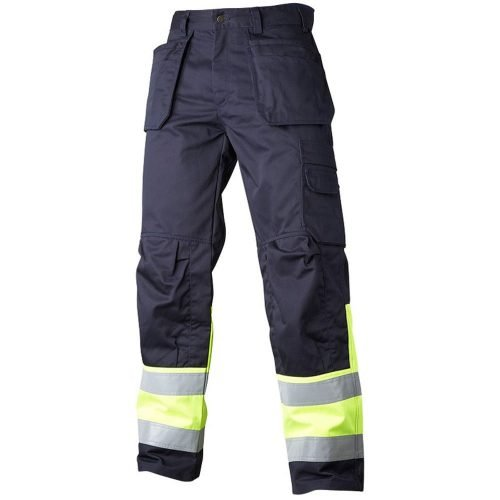 Working trousers navy hi vis yellow