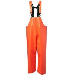 VIKING RUBBER FISHING BIB TROUSERS HI VIS ORANGE OILSKIN
