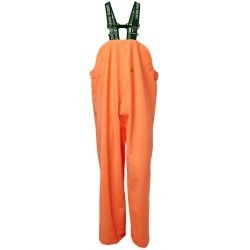 VIKING RUBBER HI VIS ORANGE WATERPROOF FLEXIBLE BIB AND BRACE TROUSERS