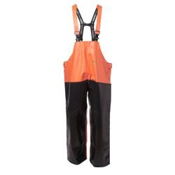 VIKING FISHING REINFORCED BIB TROUSERS HI VIS OILSKINS