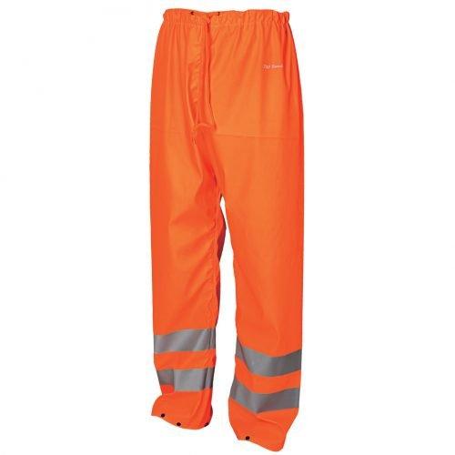 Hi Vis orange waterproof rain trousers