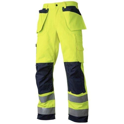 Hi vis yellow working trousers