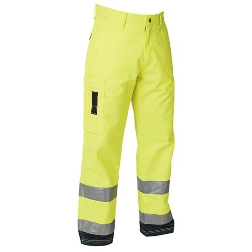 Hi Vis safety work trousers yellow