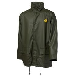 VIKING RUBBER GREEN WATERPROOF OILSKIN RAIN JACKET