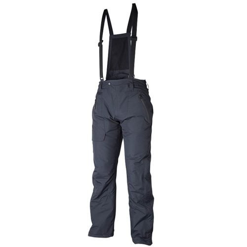 Insulated winter overalls black front