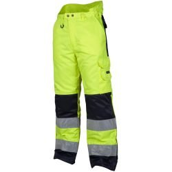 Hi vis yellow insulated winter trousers