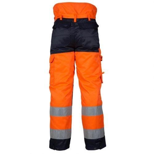 Hi Vis orange winter trousers with high waist back