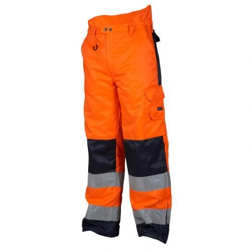 Hi Vis orange winter trousers with high waist