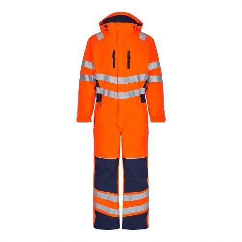 Engel Hi Vis Orange Engel Safety Winter Boiler Suit4946-930-10165