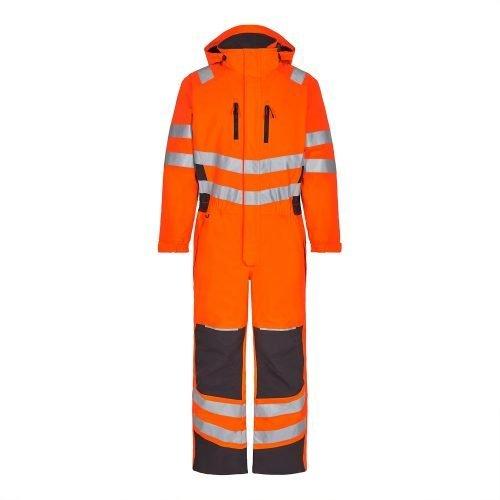 Engel Hi Vis Orange Engel Safety Winter Boiler Suit 4946-930-1079
