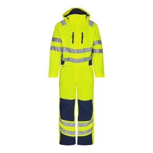 Engel Hi Vis Yellow Engel Safety Winter Boiler Suit