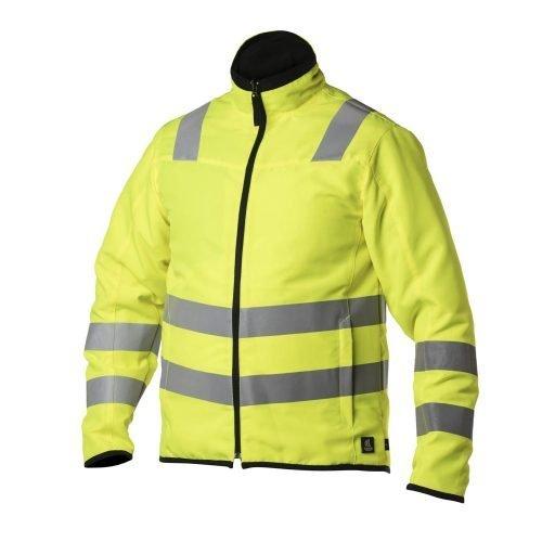 Viking Rubber Zip In Hi Vis Yellow and Black Reversible Jacket