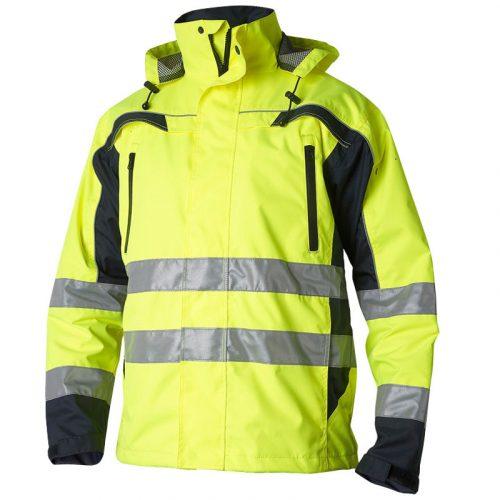 Hi Vis yellow waterproof shell jacket