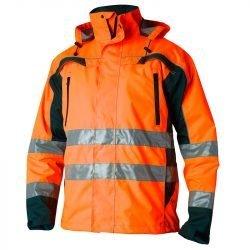 Hi Vis orange waterproof shell jacket