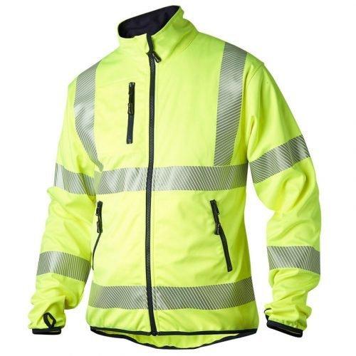 Hi Vis yellow softshell jacket