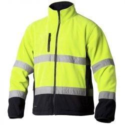 Hi vis yellow thick windproof fleece