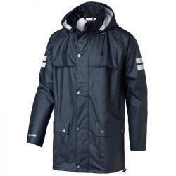 Rain coat with white strips