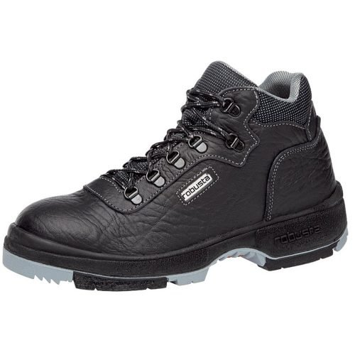 robusta black leather safety boots