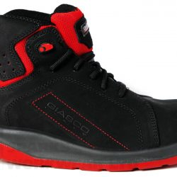 Safety Trainers Light Weight Black Red