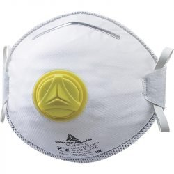 MOULDED DISPOSABLE HALF-FACE-MASKS FFP2 WITH VALVE