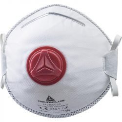 MOULDED DISPOSABLE HALF-FACE-MASKS FFP3 WITH VALVE