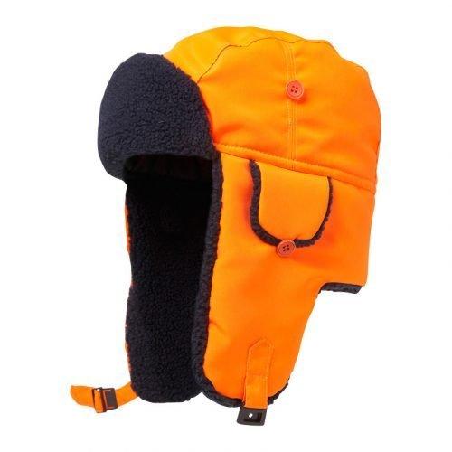 Hi Vis orange warm hat